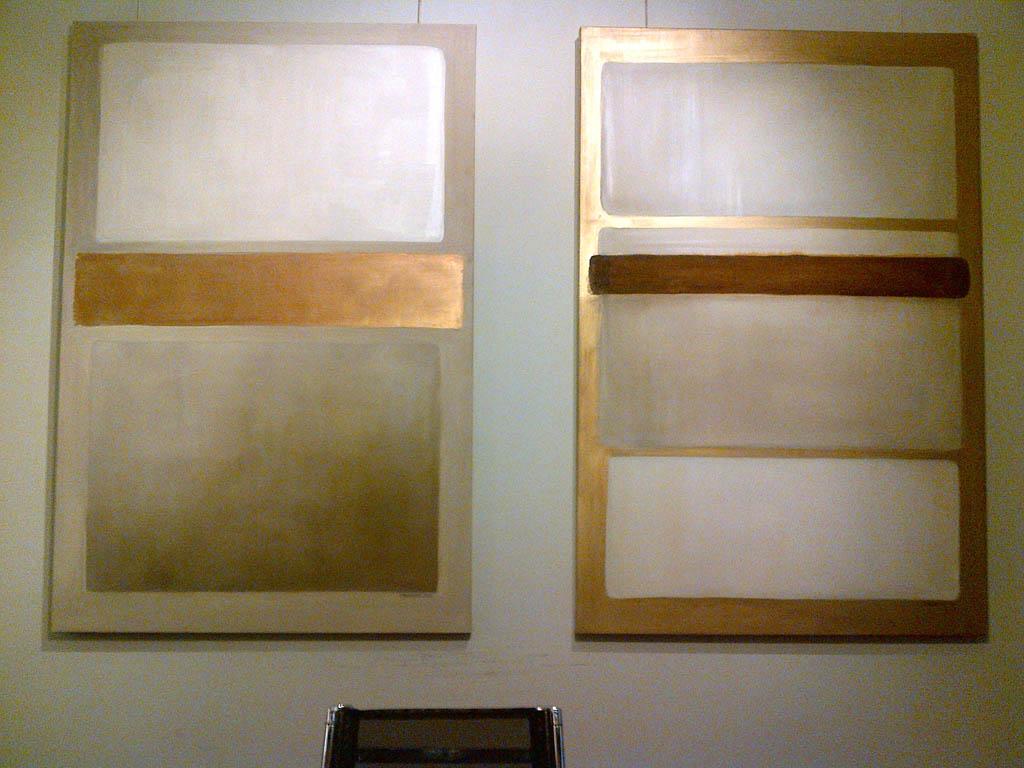 Tele rame e ruggine decorazione pittorica di interni for Ruggine bologna