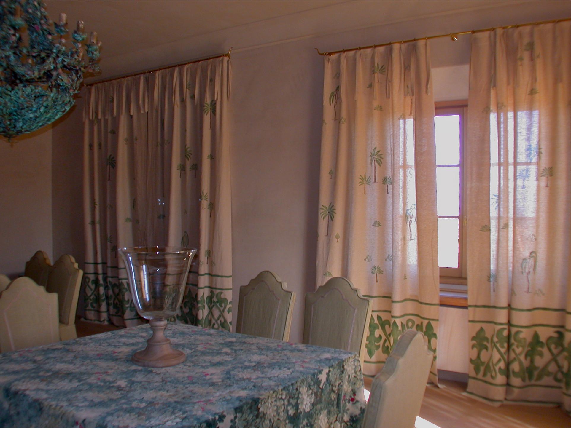 Tende Sala Da Pranzo Decorazione Pittorica Di Interni Bologna  #805E49 1925 1444 Sala Da Pranzo Blu